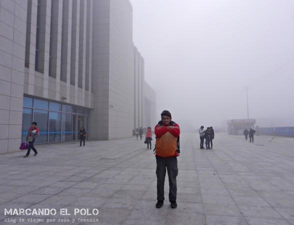 Viajar a dedo China: mucho frío