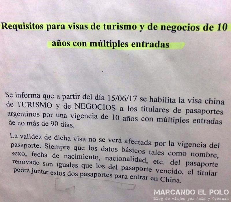 Visa de China - Visa turismo 10 anos
