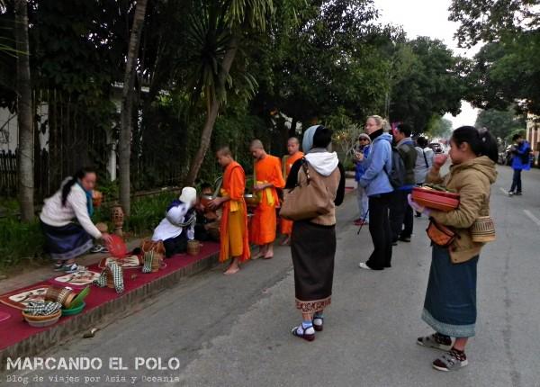 Viajar a Luang Prabang, Laos - peregrinación de monjes 5
