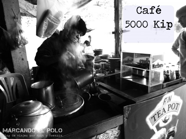 Presupuesto para viajar a Laos - cafe