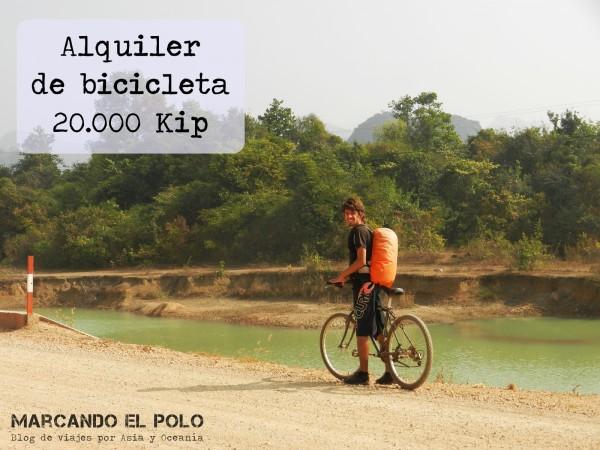 Presupuesto para viajar a Laos - alquiler bicicleta