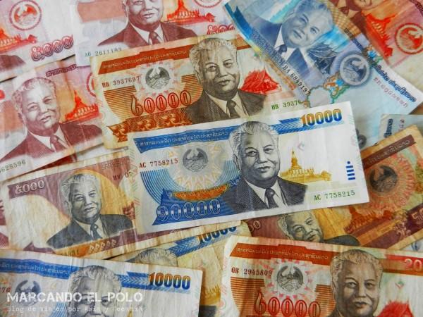 Presupuesto para viajar a Laos - Kip, moneda laosiana