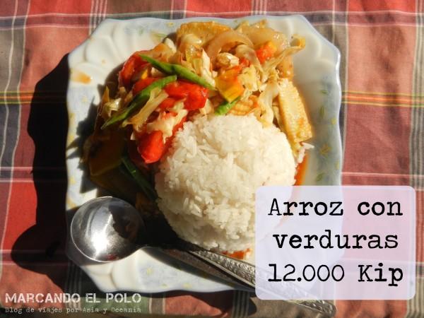 Presupuesto para viajar a Laos - comida vegetariana