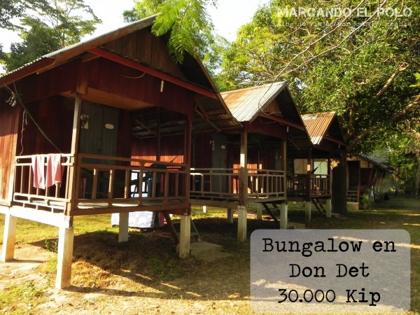 Viajar a Laos - Bungalow en Don Det