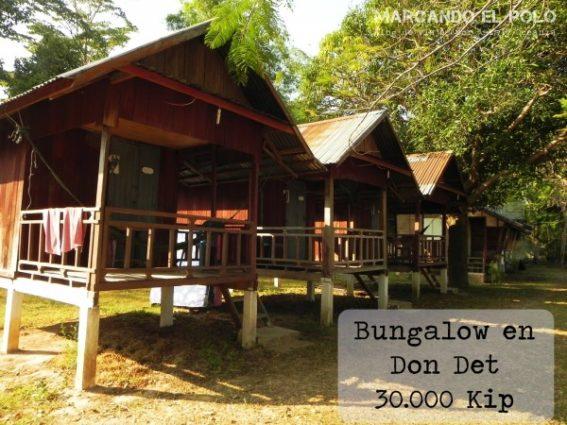 Presupuesto para viajar a Laos - cabañas baratas en Don Det