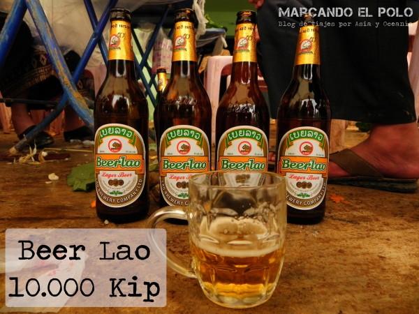 Presupuesto para viajar a Laos - cerveza Beer Lao