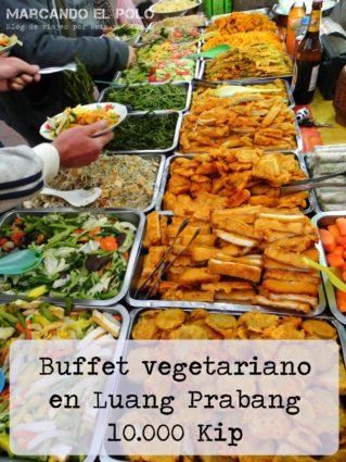 Presupuesto para viajar a Laos - comida vegetariana Luang Prabang