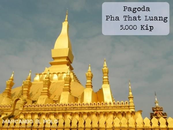 Viajar a LAos - Pagoda Pha That Luang