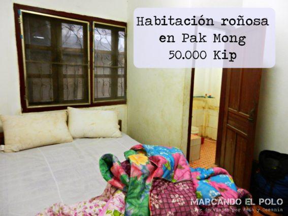 Presupuesto para viajar a Laos - habitacion sucia