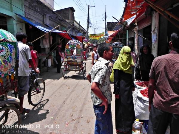 Viajar a Bangladesh - calles de Old Dhaka