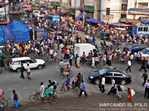 Viajar a Bangladesh - caos en las calles de Daca