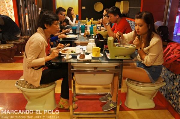 Restaurante temático inodoros Taiwán 13