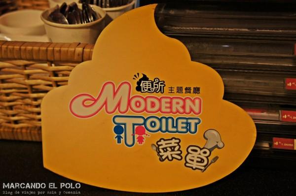 Restaurante temático inodoros Taiwan menu