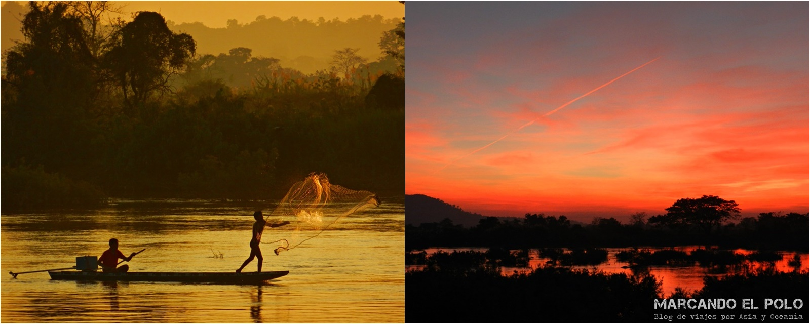 Viajar a Laos: Atardeceres mágicos en Don Det.