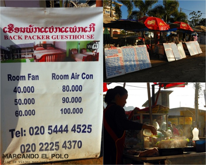 Viajar a Laos: Oferta de alojamiento mochilero en Vang Vieng