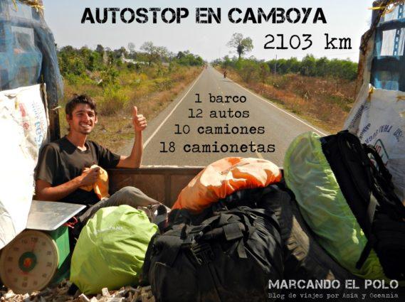 Autostop en Camboya
