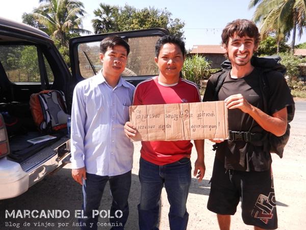 Viajar a dedo Camboya - quiénes nos levantaron
