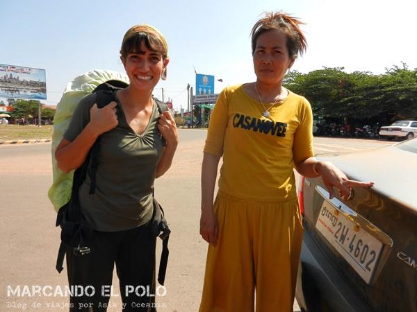 Viajar a dedo Camboya - quiénes nos levantaron 4