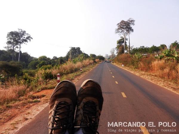 Viajar a dedo Camboya - último viaje camino a Vietnam