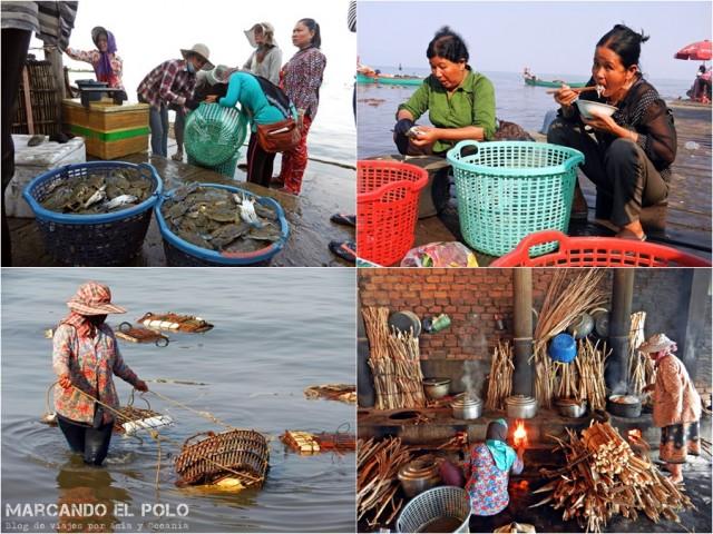 Itinerario viajar a Camboya: Crab Market, Kep