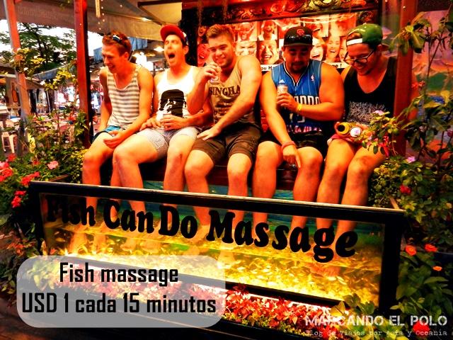 Presupuesto para viajar a Camboya - Fish massage