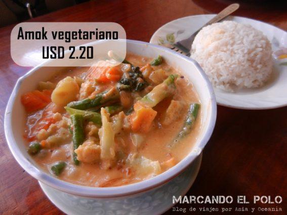 Presupuesto para viajar a Camboya - comida amok