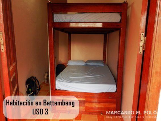 Presupuesto para viajar a Camboya - habitacion economica