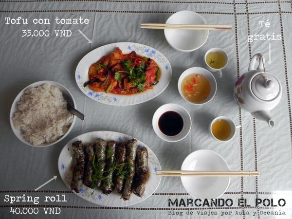Presupuesto para viajar a Vietnam - comida
