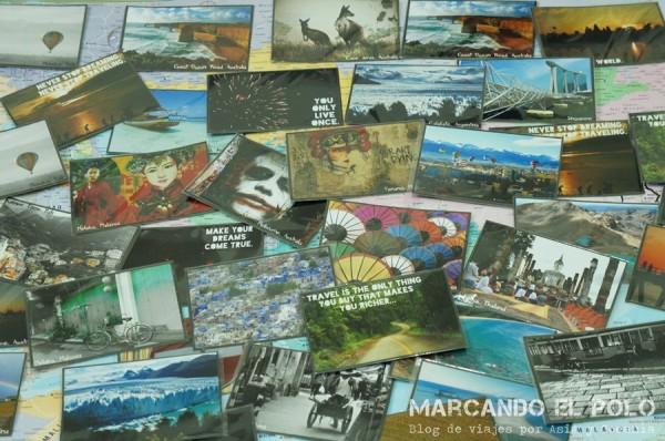 Postales marcopólicas listas para ir al mundo