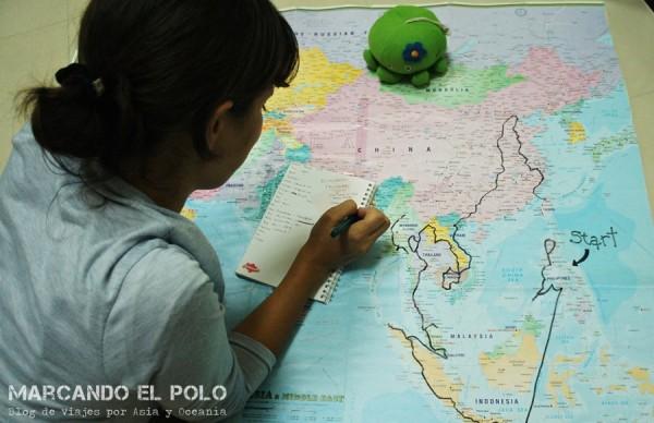 La emoción de sentir el mapa...