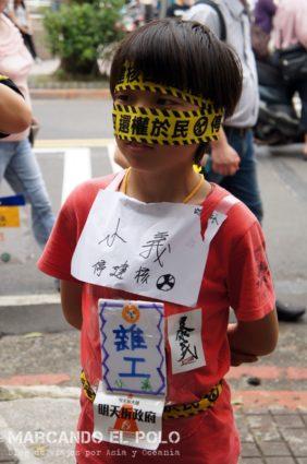 Protesta Taiwan