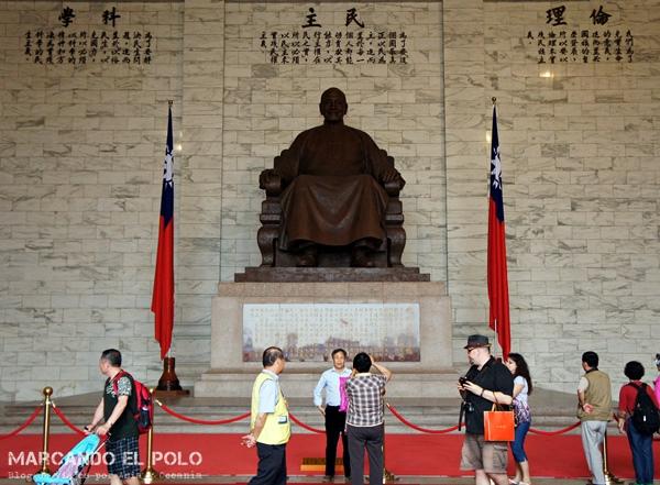 Chiang Kai-shek memorial en Taipéi, Taiwán