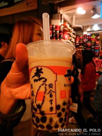 Consejos para viajar a Taiwán: bubble tea