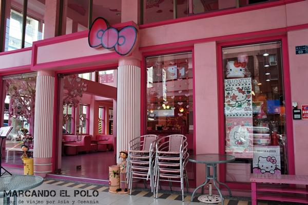 Curiosidades de Taiwán: restaurante rosa