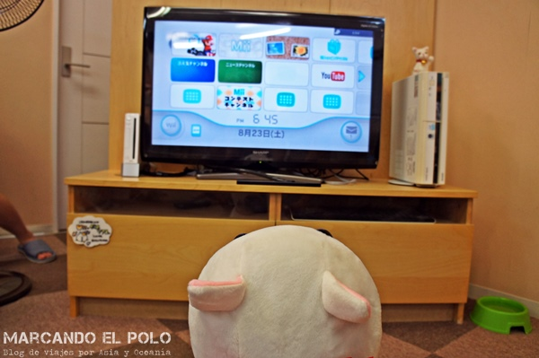 Videojuegos en Cafe con gatos de Tokio