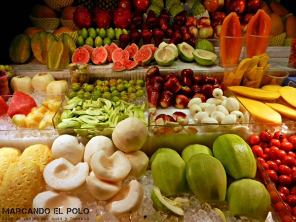 Consejos para viajar a Taiwan: fruta tropical