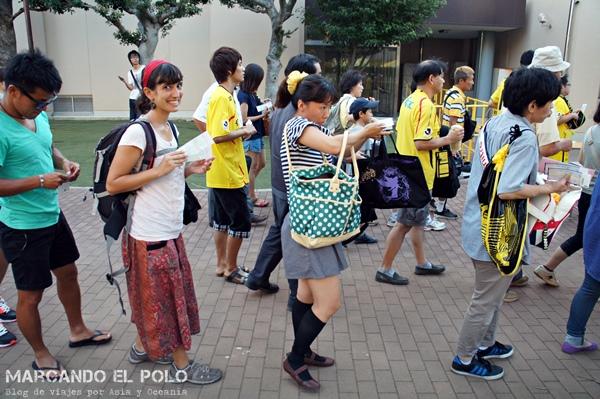 Ver futbol en Japon - entrada al estadio Kashiwa