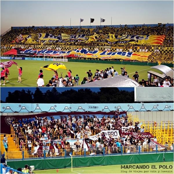 Ver futbol en Japon: hinchadas Kashiwa vs Lanus