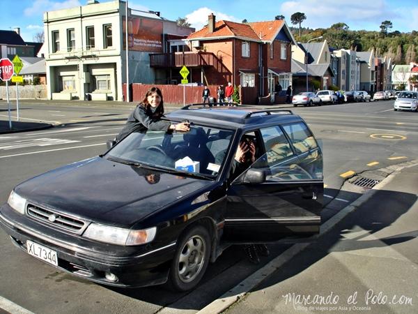Comprar un auto en Nueva Zelanda: auto roto