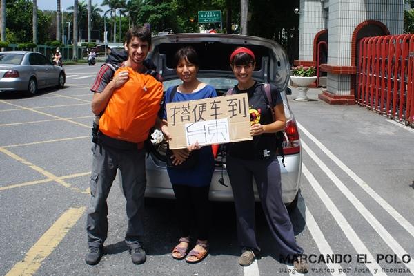 Viajar a dedo en Taiwan - Taitung