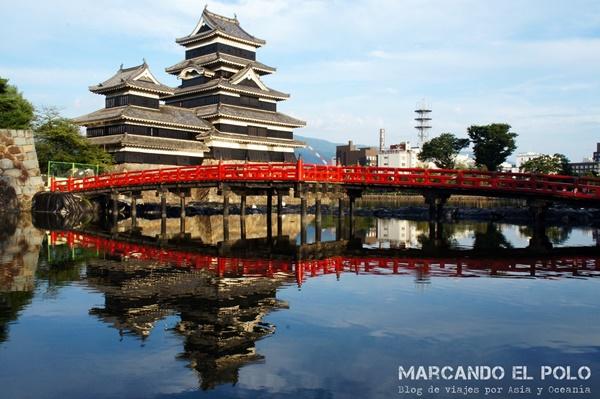 El hermoso Castillo de Matsumoto por fuera