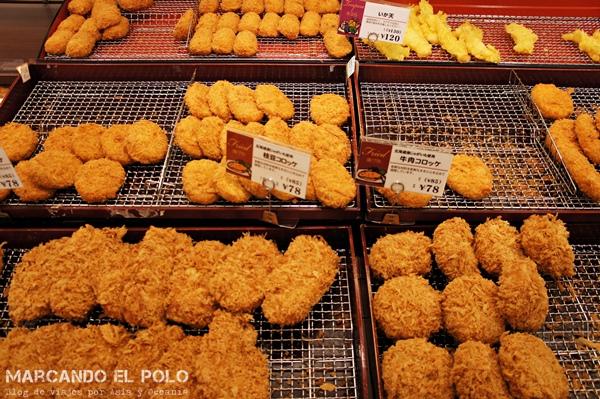 Viajar barato a Japón - comida supermercado