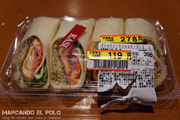 Viajar barato a Japón - comida reducida