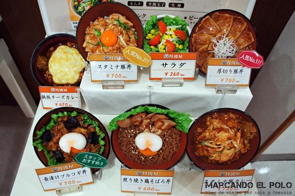 Viajar barato a Japón - comida restaurante