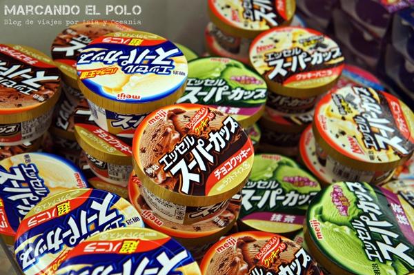 Viajar barato a Japón - helados