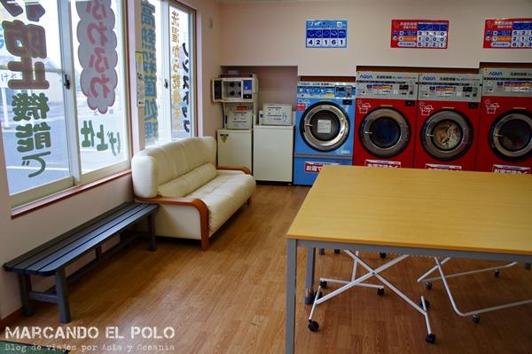 Viajar barato a Japón - lavandería
