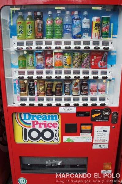 viajar barato a Japón - máquina expendedora