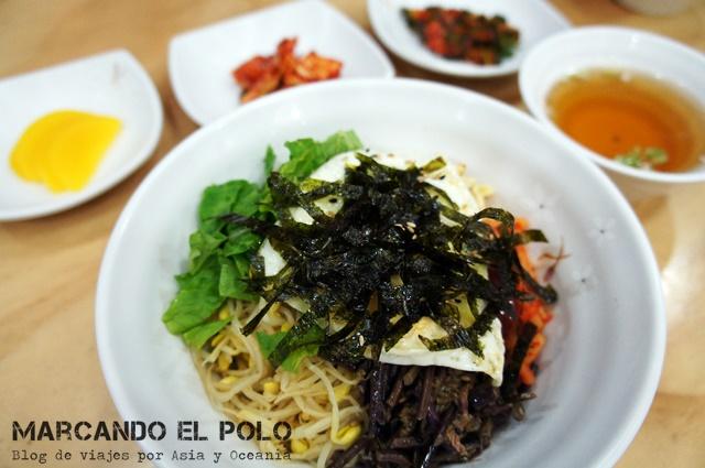 Comida coreana - bibimbap