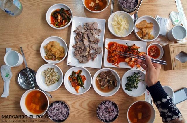 Comida coreana - plato del día