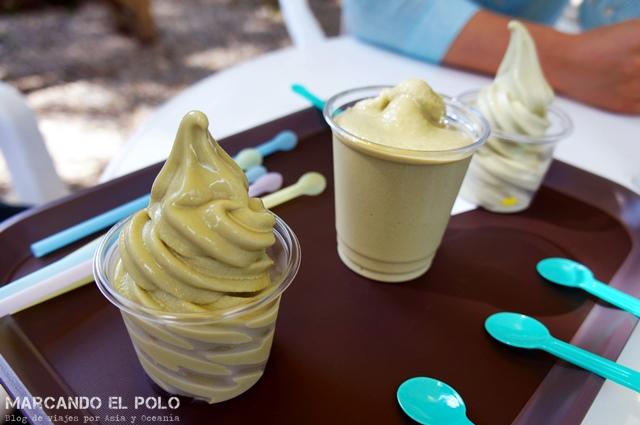 Comida coreana - helado de te verde
